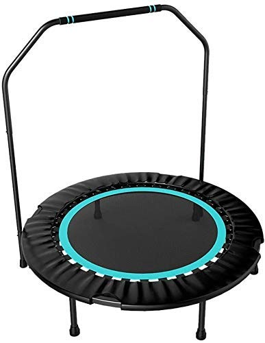LuoMei Foldable Trampoline Small Exercise Rebounder Gym Household Children Indoor Bouncing Small Trampoline Weight Loss Jumping Bed Trampoline with Armrestsice Lake Blue