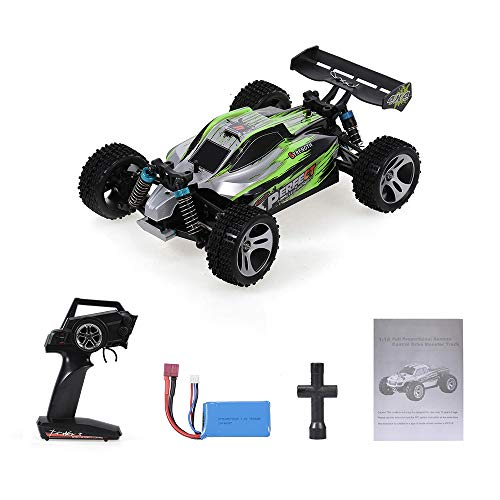Goolsky WLtoys A959-A Coche RC Car 2.4G 1/18 4WD 35KM / h Racing Buggy Car Vehículo de Alta Velocidad Off Road Truck RTR