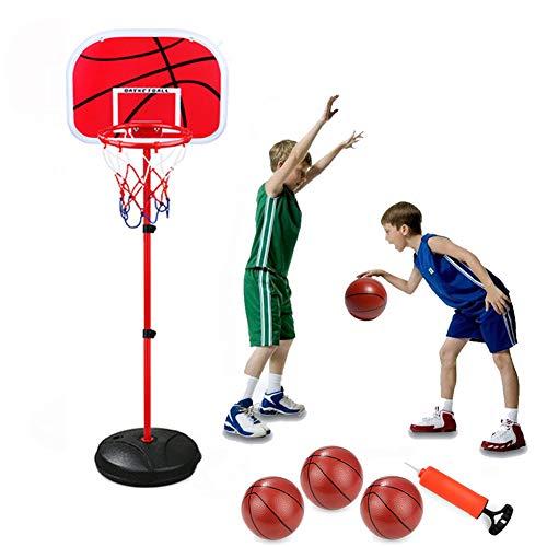 Stabiele en eenvoudig te monteren ballenmand, basketbalkorf speelgoedset voor baby's, hoogwaardige, veilige, niet-giftige, milieuvriendelijke kunststof, metalen beugel, in hoogte verstelbaar