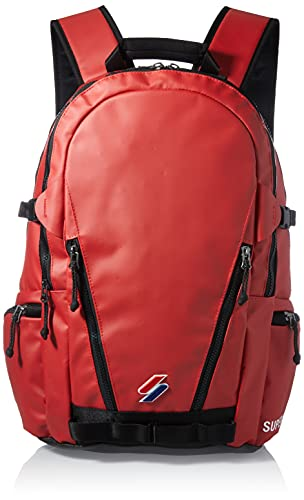 Superdry Mens Code TARP Backpack, Risk Red, One Size