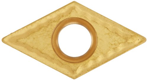"""Cobra Carbide 40468 Solid Carbide Turning Insert, CM14 Grade, Multilayer Coated, DCMT Style, cm Chipbreaker, DCMT 32.51, 5/32"""" Thick, 1/64"""" Radius (Pack of 10)"""
