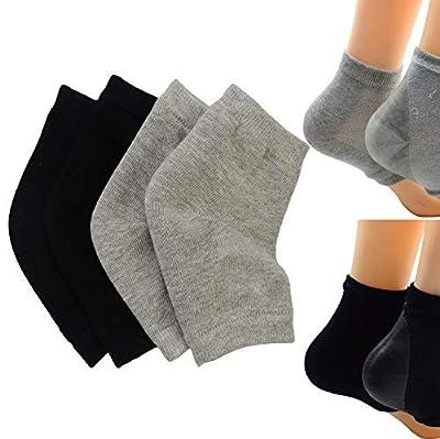 2 Paar Feuchtigkeitsspendende Silikon-Gel-Ferse-Socken