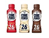 Core Power by Fairlife High Protein, 26g Protein, 3 Flavor Variety Pack, Milk Shake, 14 oz (Pack of 6)