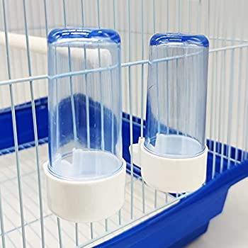 BPS BPS-102838 Lot de 2 mangeoires pour grande cage à lapin Taille S Longueur 9,7 cm