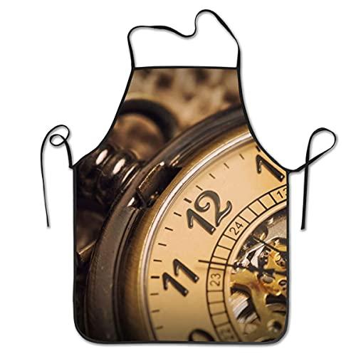 smartgood Pooizsdzzz Delantal para hombres, mujeres, reloj de bolsillo vintage