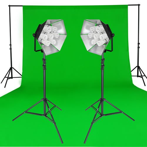 Greenscreen Chromakey Studioset Daylight 1750/1750