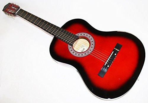 Cherrystone Konzertgitarre Akustik Gitarre Schülergitarre Größen- und Farbwahl (4/4, redburst)