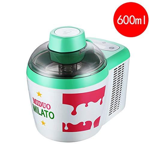 Eismaschine, gefrorener Joghurt und Sorbet-Maschine BPA-frei mit Haushalts-intelligenter Sorbet-Fruchtjoghurt-Maschine, Edelstahl-Liner, einfache hausgemachte Eismaschine mit Bedienungsanleitung, 600