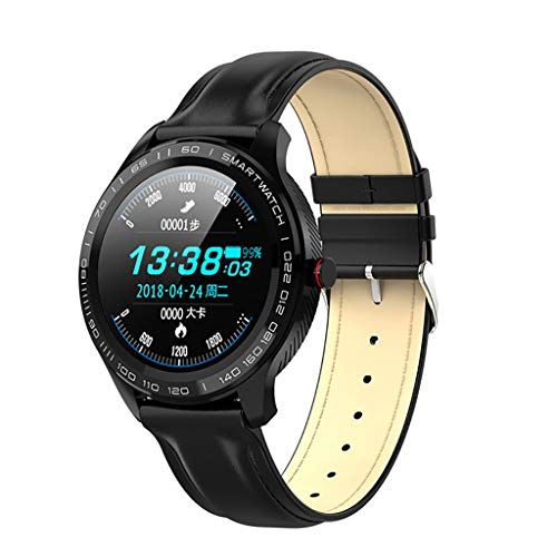 Sgfccyl Smart-Uhr-Mann-EKG-Herzfrequenz-Blutdruck-Monitor 1.3 Zoll Full Screen Touch-IP68 wasserdichte Smartwatch (Color : Style 3)