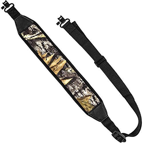 EZshoot Gun Sling 2 Point Sling with Swivels, Comfortable Neoprene Padded, Length Adjustable Rifle Sling for Outdoors Camo Black