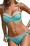 Trajes de Baño Mujer Push-up Bikini Sets Talla Grande Ropa de Baño de Dos Piezas Estampado Floral