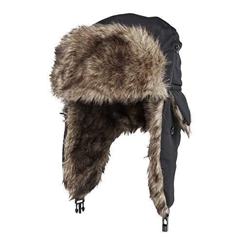 MeOkey Cappello Aviatore Unisex imbottitura in pelliccia coperto sulle orecchie sul mento per Ski Inverno in Bicicletta