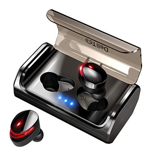 【最新版 Bluetooth5.0+120時間連続駆動】 Bluetooth イヤホン Hi-Fi高音質 EDRが搭載 IPX7完全防水 自動ペアリング 3Dステレオサウンド CVC8.0ノイズキャンセリング&AAC8.0対応 完全ワイヤレス イヤホン 両耳 左右分離型 自動ON/OFF Siri対応 音量調整 マイク内蔵 充電式収納ケース付き 技適認証済 ブルートゥース スポーツ イヤホン iPhone/Android対応 (T8進化型)