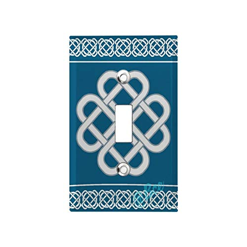 1 Gang Wall Plate Switch Plate Cover Celtic Love Knot Good Fortune Symbol Framework Border Design Classic Decorator Single Light Switch Plate Home Decoration