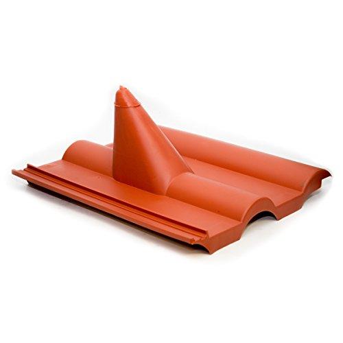 PremiumX Frankfurter Dachpfanne Rot SAT Dachabdeckung Pfanne Dachziegel aus Kunststoff PVC Antennen-Durchgangsziegel