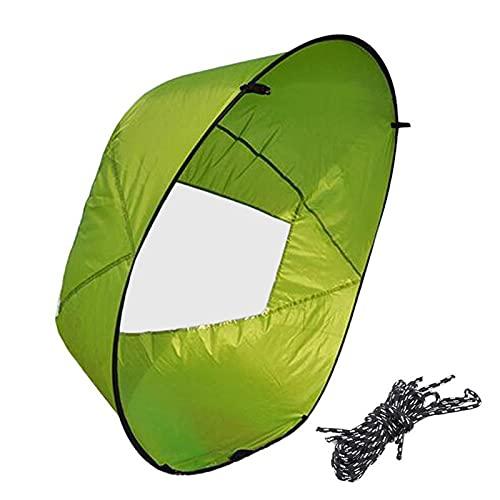FHXY Downwind vela kayak vela 108 cm portátil Downwind vela con ventana transparente plegable kayak canoa bolsa de transporte