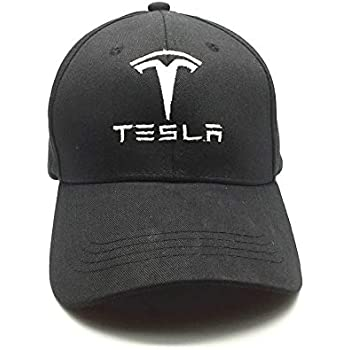 Black+White JDclubs Tesla Logo Embroidered Adjustable Baseball Caps for Men and Women Hat Travel Cap Car Racing Motor Hat