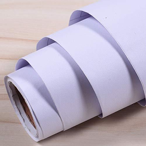 Ximeima Wohnzimmer Selbstklebende Tapete PVC wasserdichte Tapete Wandaufkleber Pure White Instant Sticker Möbel Refurbished Cabinet Drawer Sticker 120 cm Breite * 500 cm Länge Verdickt reinweiß