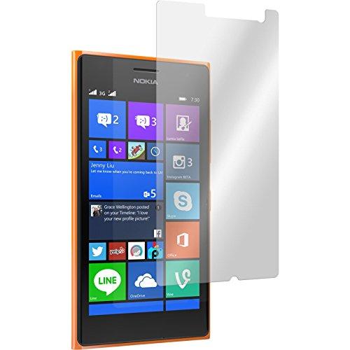 PhoneNatic 2 x Glas-Folie klar kompatibel mit Nokia Lumia 730 - Panzerglas für Nokia Lumia 730