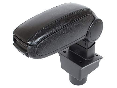 KOMPLETT-Set Mittelarmlehne Armlehne Leder Bezug Schwarz zum einfachen Nachrüsten passend für Passat 3C (B6) ab 2005-2010