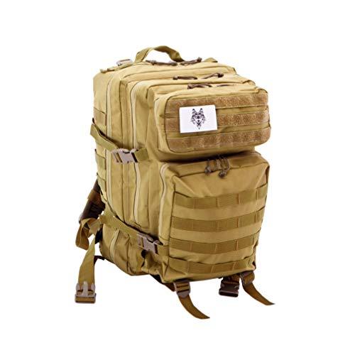 L&H Squad KLIMASCHUTZ Outdoor Militär Wanderrücksack (TAN)