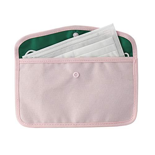 Kiner - Funda para máscaras de tela, bolsa portamascarillas, bolsa de colores, cajas de almacenamiento para máscaras (rosa)