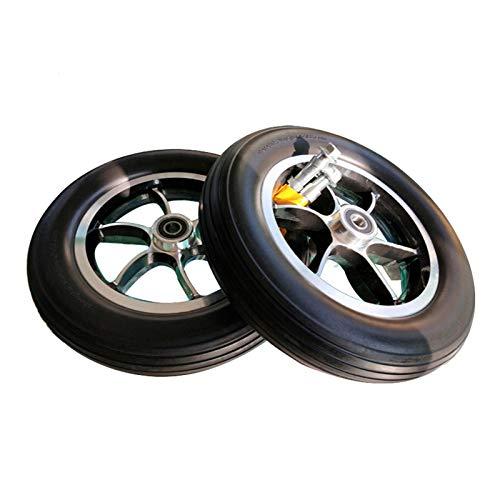 YSJX 10inch/250mm Ersatzrollen für Rollstuhlräder,Vollgummireifen Ersatzteil für Rollstuhl,Stabiler PU Reifenaufbau,Rollstuhl Reifen für Elektromobil,Scooter, E-Rollstuhl,2 Stück