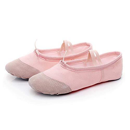 Zapatillas de Yoga Suaves para Profesora de Gimnasia, Zapatos de Baile de Ballet para niñas, Mujeres, Damas, Gimnasia, Lona, niños, Mujeres-Rosa 1_34