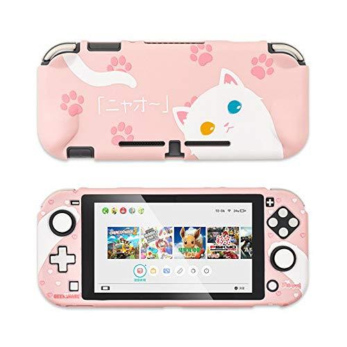 Carolilly Custodia Protettiva Cover Sottile per Nintendo Switch e Joy con Guscio di Animale del Fumetto AntiGraffio Antiurto (Gatto Lite, One Size)
