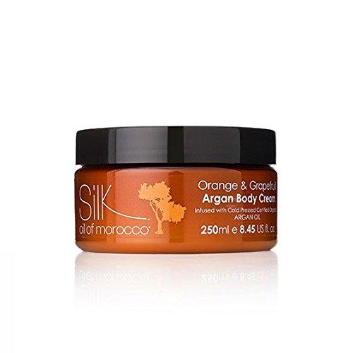 Silk Oil of Marocco Vegan Argan Body Cream - Crema idratante per il corpo 250 ml (arancione e pompelmo)