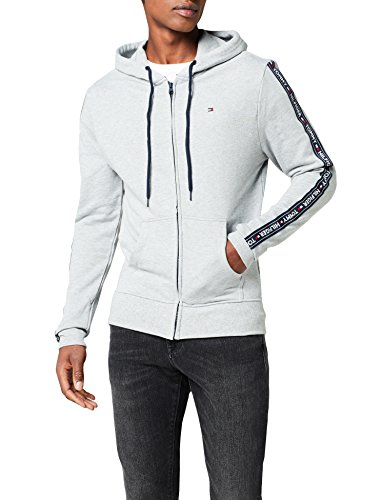 Tommy Hilfiger Herren Hoody Ls Hwk Kapuzenjacke, Grau (Grey Heather 004), Medium