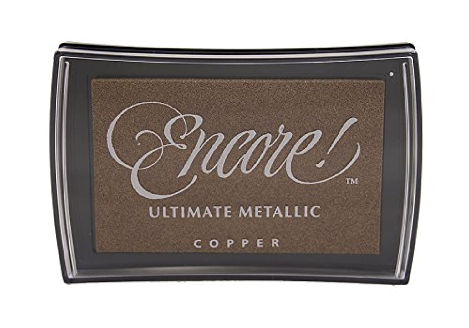 Tsukineko Full-Size Encore Ultimate Metallic Pigment Inkpad, Copper