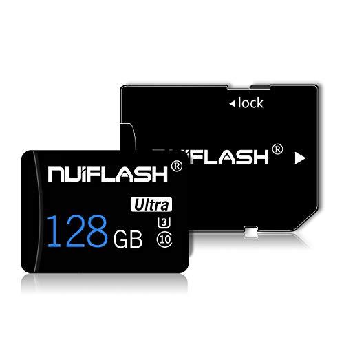 Micro SD Speicherkarten 128GB TF-Karte Klasse 10 Entwickelt für Android-Smartphones, Tablets Klasse 10 SDXC-Speicherkarte mit Adapter (128 GB)