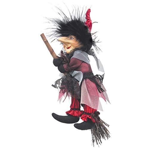 Hexen von Pendle-Emily Hexe fliegend (Burgund) 20cm