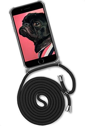 ONEFLOW Twist Hülle kompatibel mit iPhone 6s Plus / 6 Plus - Handykette, Handyhülle mit Band zum Umhängen, Hülle mit Kette abnehmbar, Schwarz