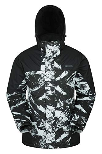Mountain Warehouse Dusk Mens Ski Jacket - Water Resistant Winter Coat White XX-Large