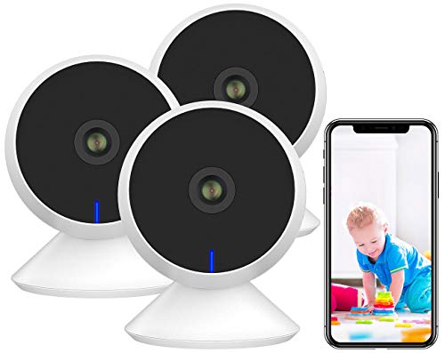 7links Babyphone: 3er-Set Full-HD-IP-Überwachungskamera, Nachtsicht, komp. zu Echo Show (WiFi Kameras)