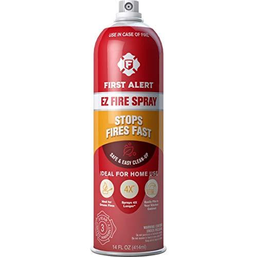First Alert Fire Extinguisher | EZ Fire Spray Fire Extinguishing Aerosol Spray, AF400 Pack of 2