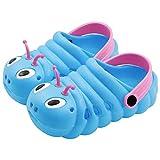 Zuecos para Infantil Niñas Niños Playa Respirable Antideslizante Sandalia Punta Cerrada Duraderas Zapatillas Verano, Azul, 25 EU