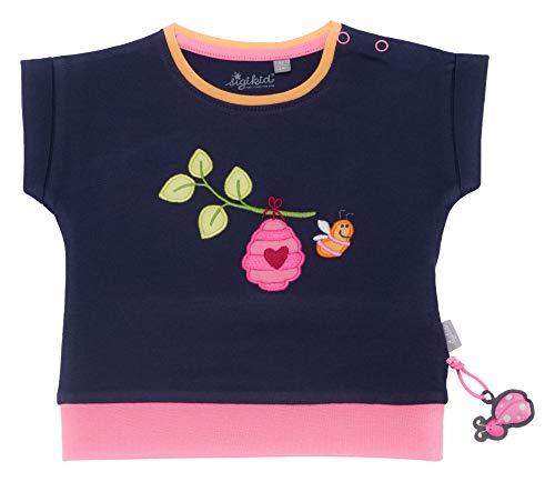 Sigikid Baby-Mädchen T-Shirt, Mehrfarbig (Peacoat 260), (Herstellergröße:68)