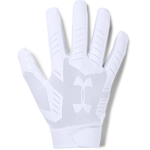 Under Armour mens F6 Football Gloves White (100)/Aluminum X-Large