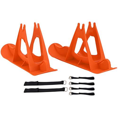 Tabla de patineta equilibrada de trineo de snowboard de plástico para esquís de coche equilibrado de 13,8 pulgadas para doble propósito(naranja)