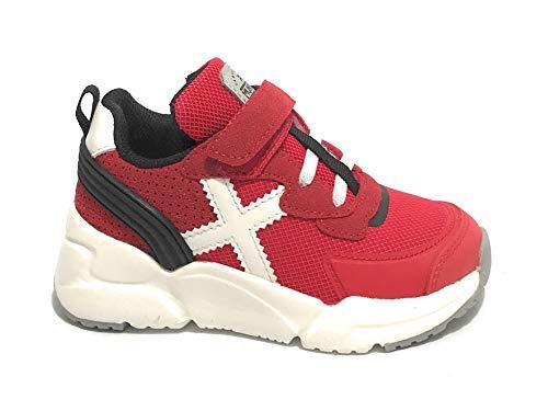 Munich Unisex Kinder Mini Track VCO Sneaker, rot, 24 EU