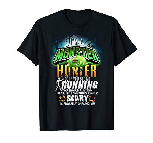 Ich bin ein Monster Hunter Scary Pumpkin Halloween MNSHH HHN T-Shirt
