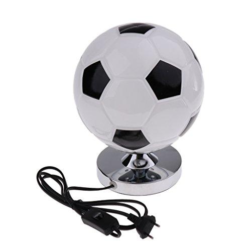perfk Fußball Design Schreibtischlampe Nachttischlampe Tischlampe Leselampe für Kinder Junge Schlafzimmer Wohnzimmer