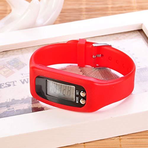 PeiXuan2019 Digital LCD sport impermeabile braccialetto pedometro passo orologio braccialetto calorie contatore distanza, ecc (Color : Black)