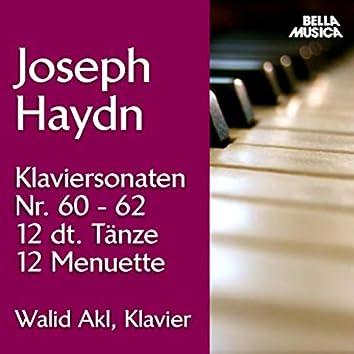 Haydn: Klaviersonaten No. 60-62, 12 Deutsche Tänze, 12 Menuette