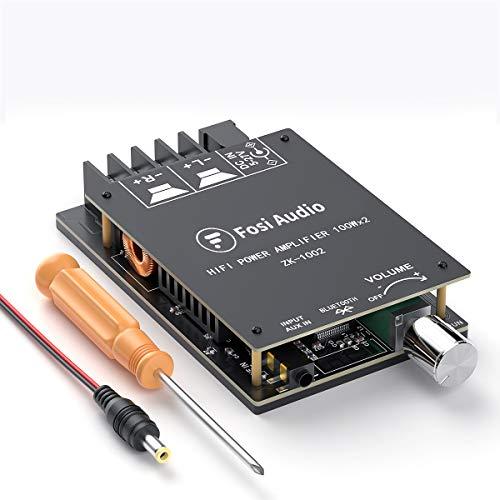 Scheda Amplificatore Ricevitore Audio Stereo Bluetooth 5.0, Mini Modulo Amplificatore AUX Wireless ad alta potenza a 2 canali, per Altoparlanti Passivi Domestici TPA3116D2 100W x 2 Fosi Audio ZK-1002
