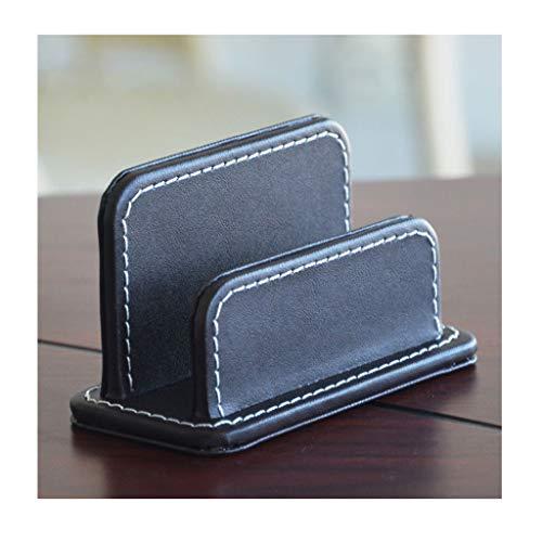 Tarjetero Para Tarjeta de Crédito Titular de la tarjeta de negocios, caja de la tarjeta de negocios for el titular de la tarjeta de cuero duro de escritorio de escritorio de la PU for el escritorio, t