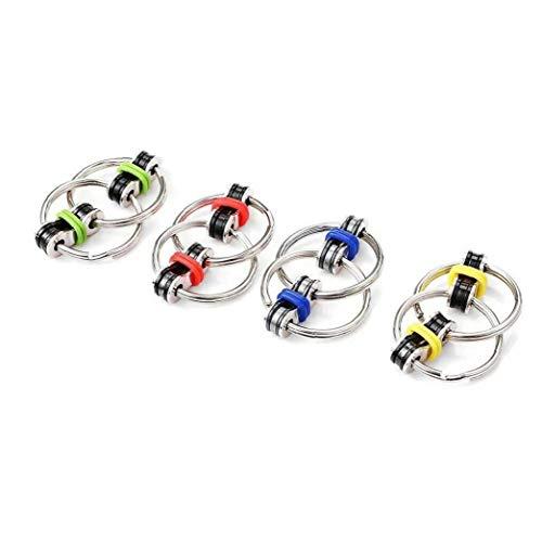 Tuimiyisou 4 Stück Flippy Ketten Fidget Spielzeug Dekompression Kit kann Stress und Angst, sehr geeignet für ADD, ADHD und Autismus, für Erwachsene und Kinder Fahrradkette Spielzeug Reifen entlasten